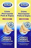Scholl Crème Nourrissante Pieds Secs et Ongles 75 ml - lot de 2