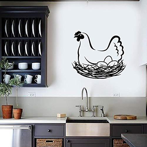 wZUN Huevo de gallina Nido de Animales de Granja Vinilo Pared calcomanía decoración del hogar Coci