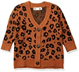 Cotton On Girl's Coco Cardigan (Little Kids) Amber Brown/Animal 4 Toddler