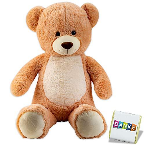 Tolle Idee Riesen Teddy, XXL Teddybär, Plüsch Kuschelbär mit Knopfaugen, Kuscheltier, 100cm großer Teddy Bär, Teddybär groß , 1 Meter