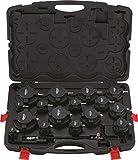 KS Tools 150.2520 Juego de maletín de comprobación del sistema de sobrealimentación para el turbocompresor, 17 pzs.