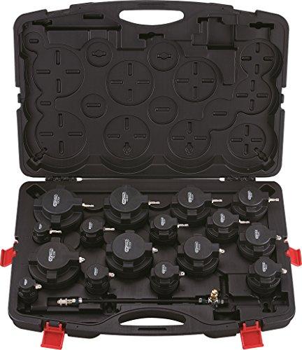 KS Tools 150.2520 Tester universali perdita di pressione delle turbine in valigia, 17 pz.