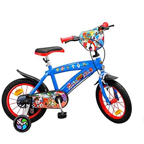 GUIZMAX Vélo Enfant 14 Pouces Yo Kaï Watch Licence Officielle Disney