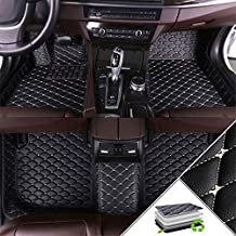 Custom Car Floor Mats for Land Rover Range Rover Sport 2010-2013(Have Computer Box Under The Main and co-Pilot Seats) All Weather Non-Slip Full Coverage Protection Car Liner Set Black Beige