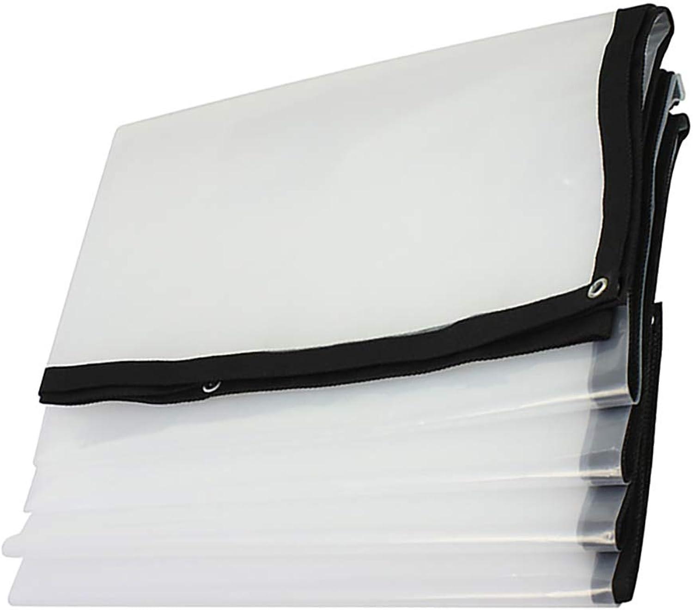 Qifengshop Leichtes, weies, transparentes, ultradünnes Outdoor Garden Rain Protection Tarp, wasserdichtes durchsichtiges Kunststofffolientuch