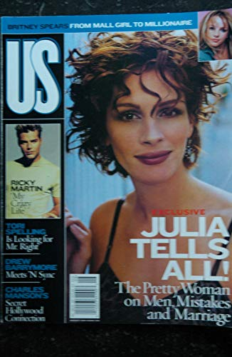US 259 - 1999 08 - Julia Roberts Cover + 6 p. - Britney Spears - Drew Barrymore - Ricky Martin - Charles Manson\'s - 98 pages