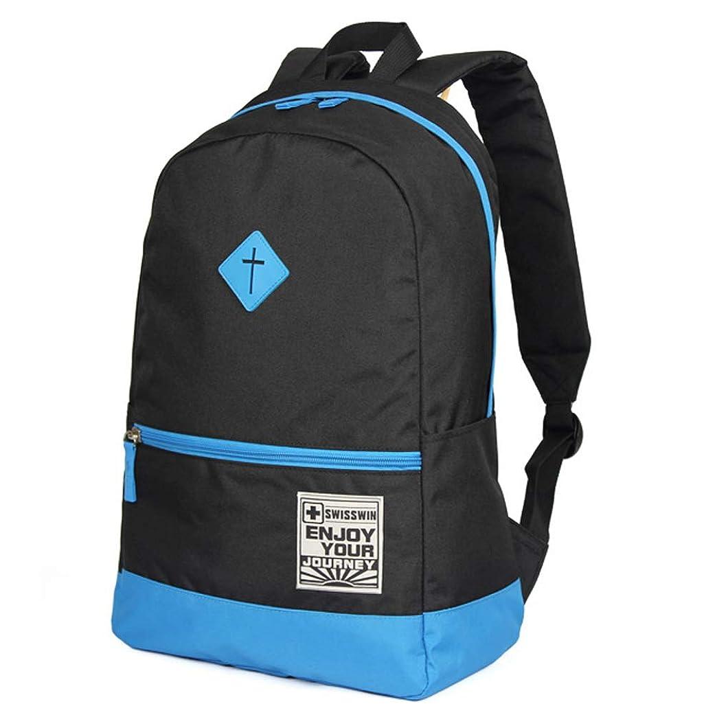 マット拒絶仮称SWISSWIN バッグパック メンズ レディース 通学 カジュアル 撥水 軽量 3色 SWK2008