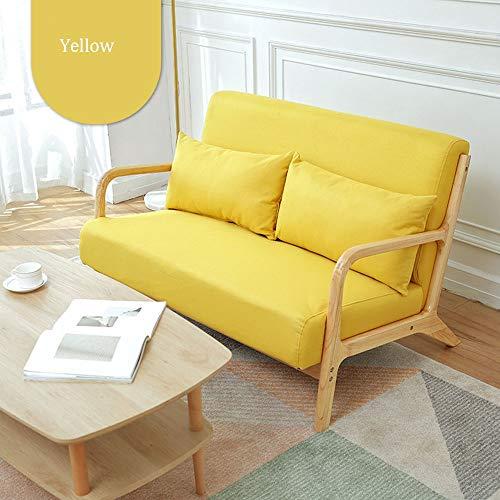 Schlafzimmer Faule Sofa for Office Wohnzimmer 5 Farben Modernes Holz-weichen Gewebe-Couch mit Armlehne Hohe Zurück Home Kleine Wohnung Wohnzimmer (Color : Gray, Size : 120x78x75cm)