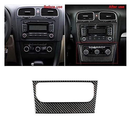 Central Del Coche Decoración Compatible con VW Golf 6 2008-2012 GTI R MK6 Scirocco Coche Pegatinas de automóviles Interior Styling Gear SHIFT CD MIENTION Panel Air Vent Cover Sticker marco de control
