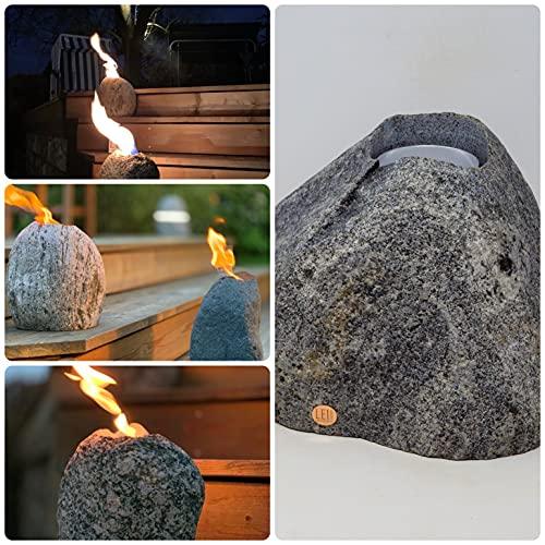 Fireplace Ethanol-Feuerstein Granit vom Kunsthandwerker-Steinmetz (Dunkelgrau)