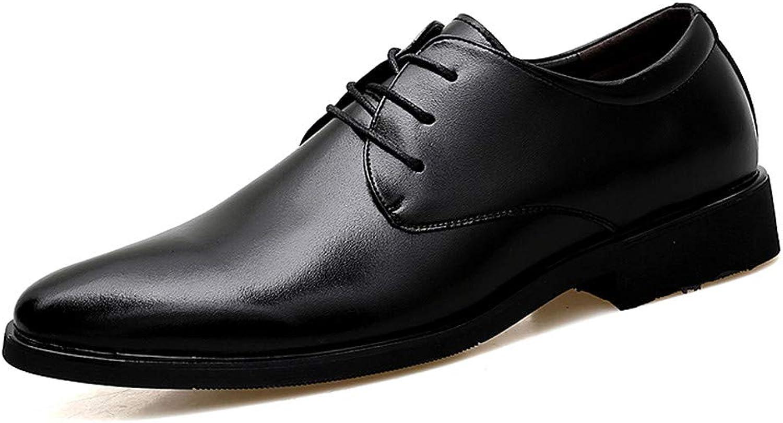 JIALUN-Schuhe Herrenmode Business Oxford Casual Weiche Cortical Klassische Spitze Niedrige Formelle Schuhe (Farbe   Schwarz, Gre   44 EU)