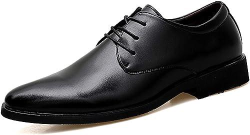 CHENDX Schuhe, Herren Klassische Spitze Niedrige Top Business Oxford Casual Weißhe Cortical Formale Schuhe (Farbe   Schwarz Größe   40 EU)