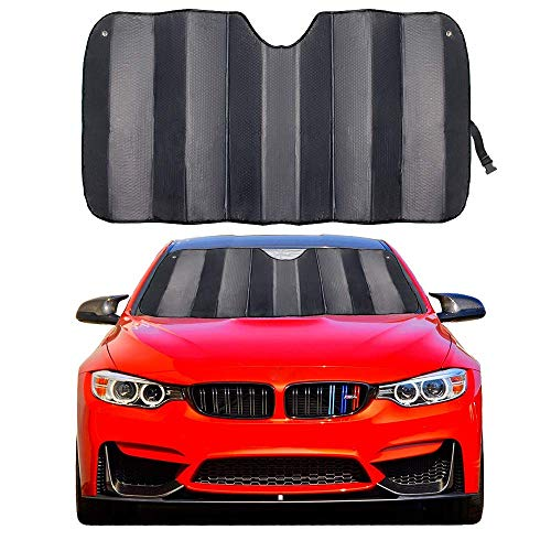 MCBUTY Car Windshield Sunshade Thicken 5-Layer UV Reflector Auto Front Window Sun Shade Visor Shield Cover,Keep Vehicle Cool(Gary,57' × 27.5')