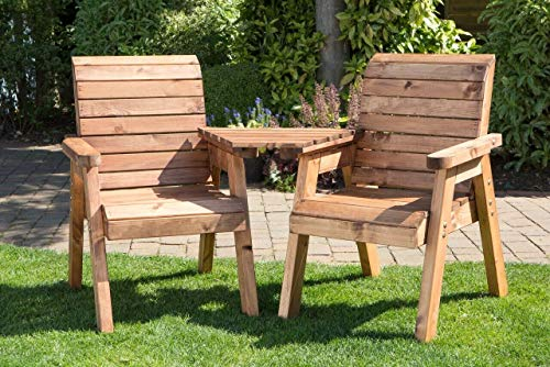 2 Seat Garden Twin Companion Set- Loveseat - Solid Wood UK Built English Design