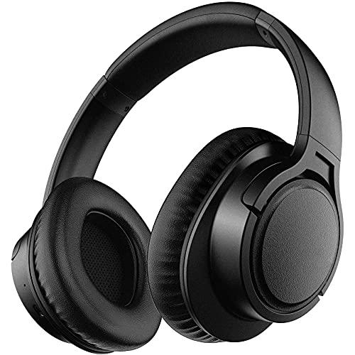 Cuffie Wireless Over-Ear, Cuffie H7 Wireless 5.0 con 25 ore di Riproduzione, Bassi Potenti, Microfono HD Incorporato, Comodi Cuffie Auricolari Cuffie per Corsi di TV Online Cellulari PC