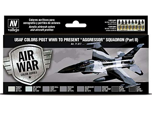 Vallejo Model Air 8 color set 71617 USAF colors post WWII to present Aggressor Squadron Part II (8)