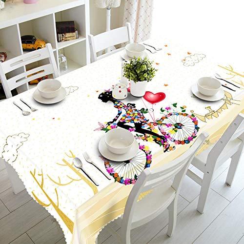 REQATABLECLOTH Nappe Impermeable Fille de Cyclisme Nappe utilisé dans Cuisine Salle à Manger 120x140cm