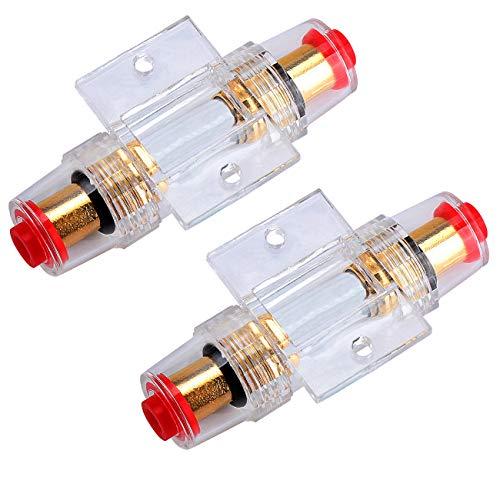 Kyrio 2PCS AGU Portafusibili in linea con fusibili AGU 60A per compressori amplificatori audio per auto