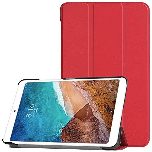 Kepuch Custer Cover per Xiaomi Mi Pad 4,PU-Pelle Case Custodia per Xiaomi Mi Pad 4 - Rosso