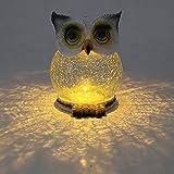 Jardin Décoration Lanterne décorative Nain de Jardin de Lampe de Hibou Mignon de lumière Solaire de Lampe extérieure pour extérieur Jardin Patio Balcon Pelouse (a)