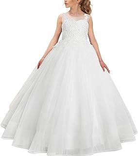 e659d3cdc6c hengyud First Holy Communion Dresses White Princess Flower Girls Dress Ball  Gowns Floor Length