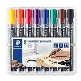 Staedtler 352 WP8. Rotuladores permanentes de colores. Caja con 8 unidades