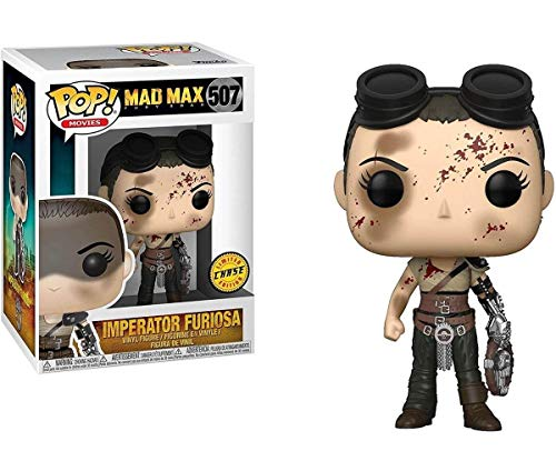Funko Pop Movies: Mad Max Fury Road-Furiosa with Goggles (Bloody) Imperator Chase Collectible Figure