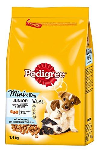 Pedigree Junior Mini Huhn und Reis Trocken Welpenfutter, 1,4 kg
