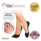 GoBunion Hallux Füßlinge mit integriertem Zehenspreizer | Vorbeugend, schmerzlindernd,...