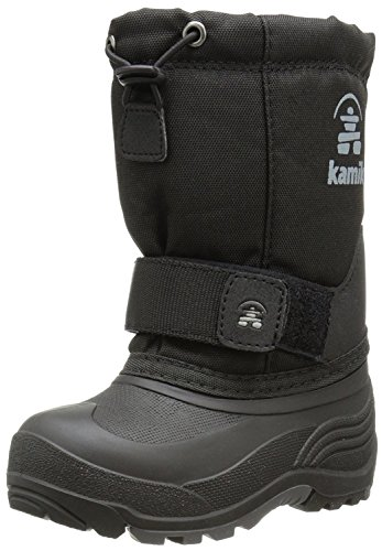 Kamik unisex child Rocket Snow Boot, Black, 12 Little Kid US