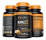 BURNZZZ PM Fat Burner - Powerful Nighttime Sleep Aid Supplement + Weight Loss + Appetite Suppressant - L-Tryptophan, 5-HTP, B6, Magnesium, ALCAR, L-Theanine + Diet Pills for Men & Women - 90 Capsules