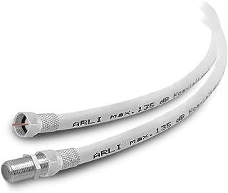 HD Sat Verlängerungskabel 1 m Anschlusskabel Satkabel 135 dB geschirmt 4K TV konfektionierte Koaxialkabel UHD Koax Kabel Digital 1m Antennenkabel ARLI