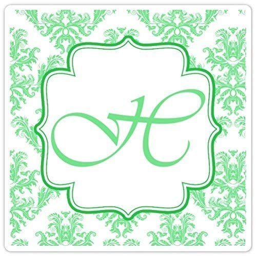 60 Wedding Stickers 2 inch square and Spring Super beauty product restock quality top! new work White Green Monog Damask