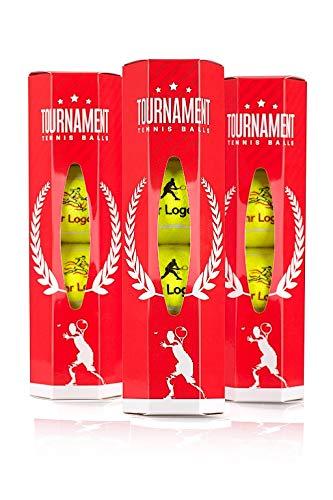 Pelota de competición con logotipo de cliente, pelota de tenis personalizada, 3 latas de 4 pelotas, pelota para clubes de tenis, jugadores aficionados y profesionales
