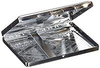 RFIDブロックビクトリア朝スタイルクラシックメタリックシルバーカラー両面King and 100sシガレットケースホルダーとクレジットカードRFID保護セキュリティ財布