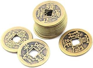 LAVALINK Fortune Coin 10pcs Chino Feng Shui Monedas De La Buena Suerte De Riqueza Y Éxito De Lucky Oriental Emperador Qing...