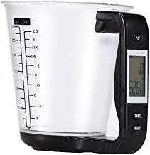 Measuring Cup Kitchen Scales Digital Beaker Libra Electronic Tool Scale With Lcd Display Temperature Measurement Cups - Black