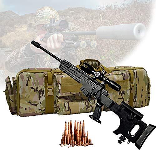 TBDLG Funda para Armas Largas, Gun Rifle Bolsa con Capacidad para Dos Rifles, Bastón Mágico Base Fijo, Bolsa de Almacenamiento de Rifle para Escalada, Pesca, Camping, Caza,Camuflaje
