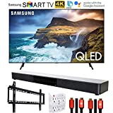 Samsung QN65Q70RAFXZA 65 inch Q70 QLED Smart 4K UHD TV 2019 Model Bundle with Home Theater Surround Sound 31 inch Soundbar, 6-Outlet Surge Adapter, Flat Wall Mount Kit and 2X HDMI Cable