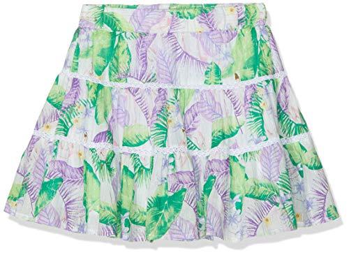 NAME IT Mädchen Nkfjirthe Skirt Rock, Mehrfarbig (Bright White), (Herstellergröße: 122)