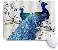 マウスパッド Mouse Pad Peacock Floral Flower Branches Non-Slip Rubber Base for Computers Laptop