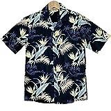 メンズ アロハシャツ ハワイ製 ウィニーファッション ブラック/極楽鳥花/コットン Winnie Fashion 黒 (US Mサイズ)