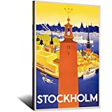 ASFGH Stockholm Vintage-Reise-Poster, Dekoration, Malerei,