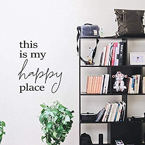Creative This is My Happy Place Wall Stickers Decorative Sticker Home Decor Removable Wall Sticker Decoration Accessories Murals 57x67cm