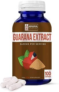 Guarana Extract Capsules by Ahana Nutrition - Guarana Pills to Support Healthy Energy Levels, Mental Performance and Overa...