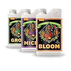 Lush, sturdy growth from 3-part nutrients designed specifically for high value 3 Part solution in 1 package: You get advanced nutrients bloom, micro and grow in 1 liter size each State-of-the-art carrier molecules to ensure their plants get the maxim...