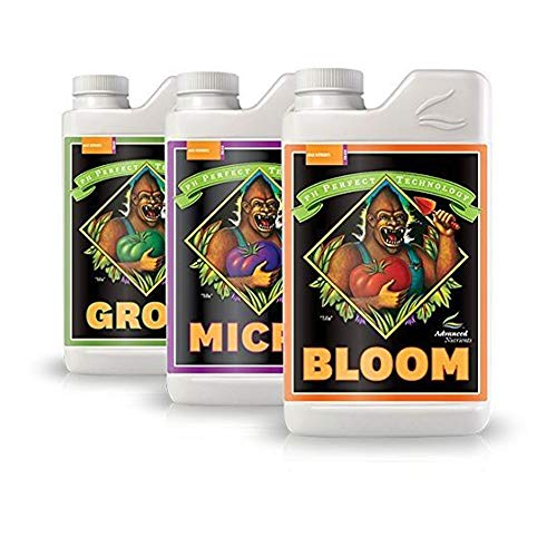 Advanced Nutrients Bloom, Micro & Grow, Pack of 3, 1 L Each
