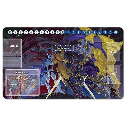 Digimon Spielematten -Digimon playmat Brettspiel MTG Playmat Tischmatte Spiele Größe 60X35 cm Mousepad Spielmatte für TCG CCG Yugioh Magic The Gathering