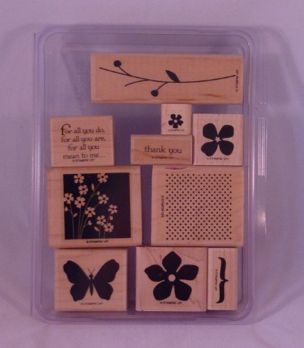 Stampin' Up! FOR ALL YOU DO Set of 10 Decorative Rubber Stamps Retired