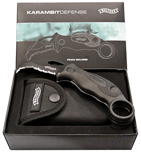 Walther Karambit Defense Knife KDK Messer 4.5' 440C Pouch Gift Boxed